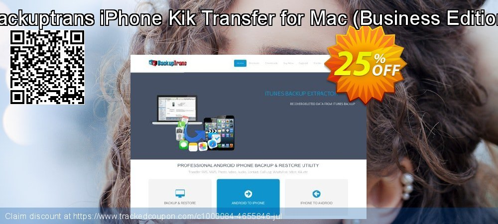 Backuptrans iPhone Kik Transfer for Mac - Business Edition  coupon on Thanksgiving super sale