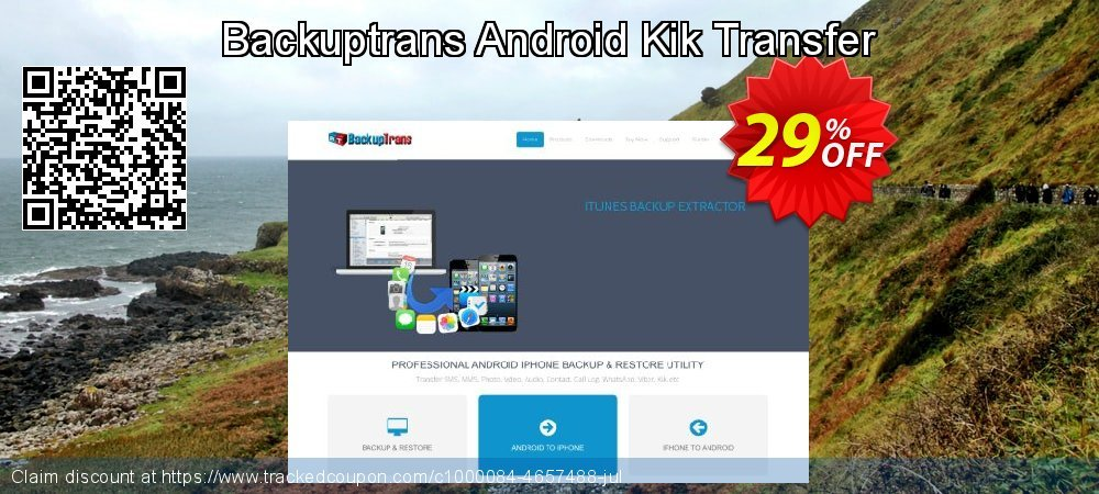 Backuptrans Android Kik Transfer coupon on Thanksgiving deals