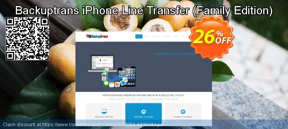 Backuptrans iPhone Line Transfer - Family Edition  coupon on Easter Sunday deals