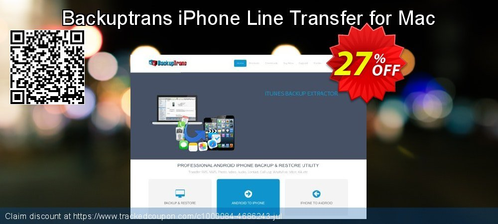 Backuptrans iPhone Line Transfer for Mac coupon on Back to School promotions discounts