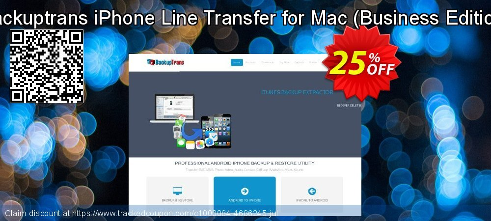 Backuptrans iPhone Line Transfer for Mac - Business Edition  coupon on Black Friday discount