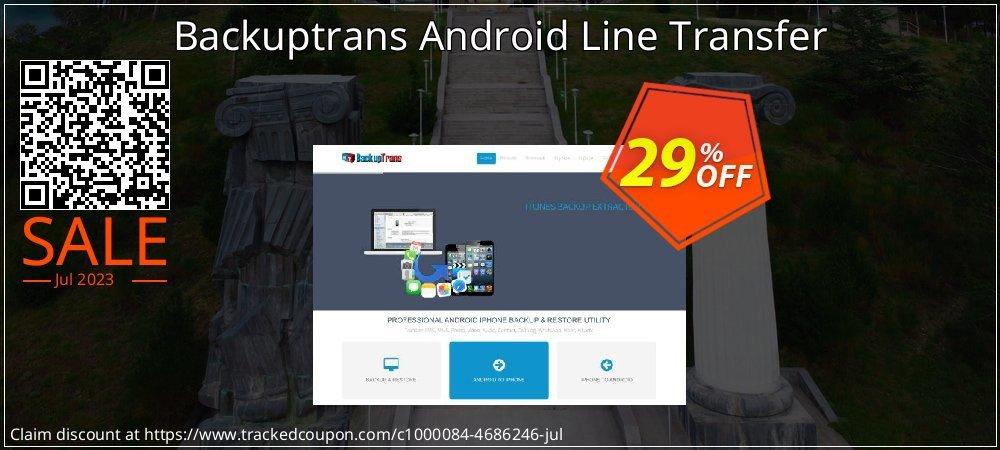 Backuptrans Android Line Transfer coupon on Easter super sale