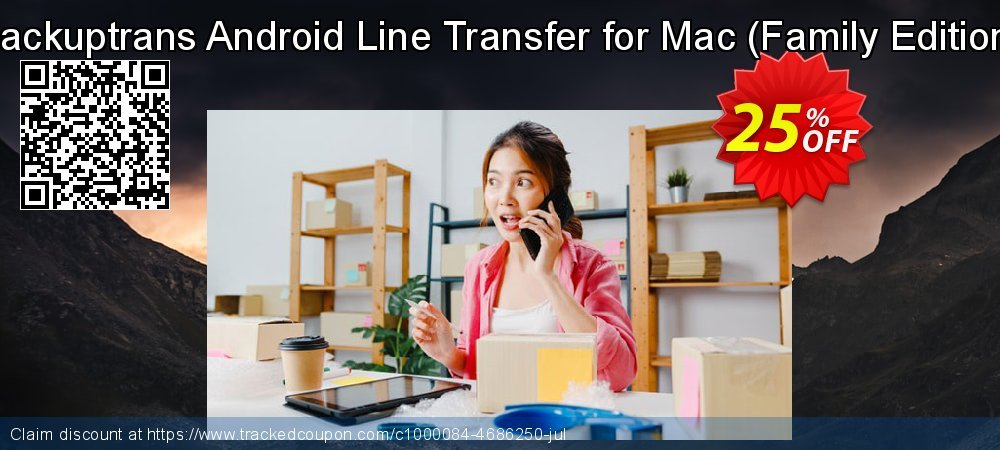 Backuptrans Android Line Transfer for Mac - Family Edition  coupon on World Population Day offering discount