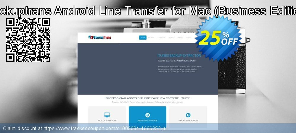 Backuptrans Android Line Transfer for Mac - Business Edition  coupon on Christmas & New Year offer