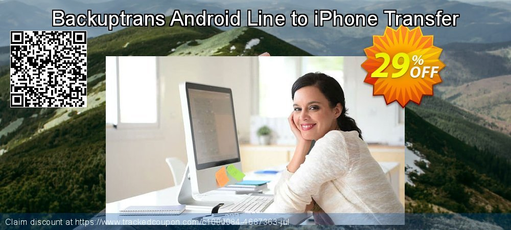Backuptrans Android Line to iPhone Transfer coupon on Back to School promo offer