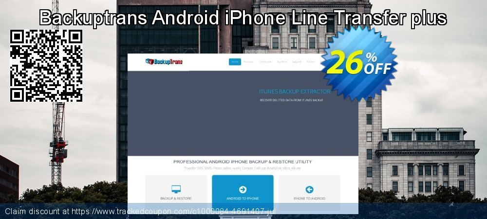 Backuptrans Android iPhone Line Transfer plus coupon on Mothers Day offer