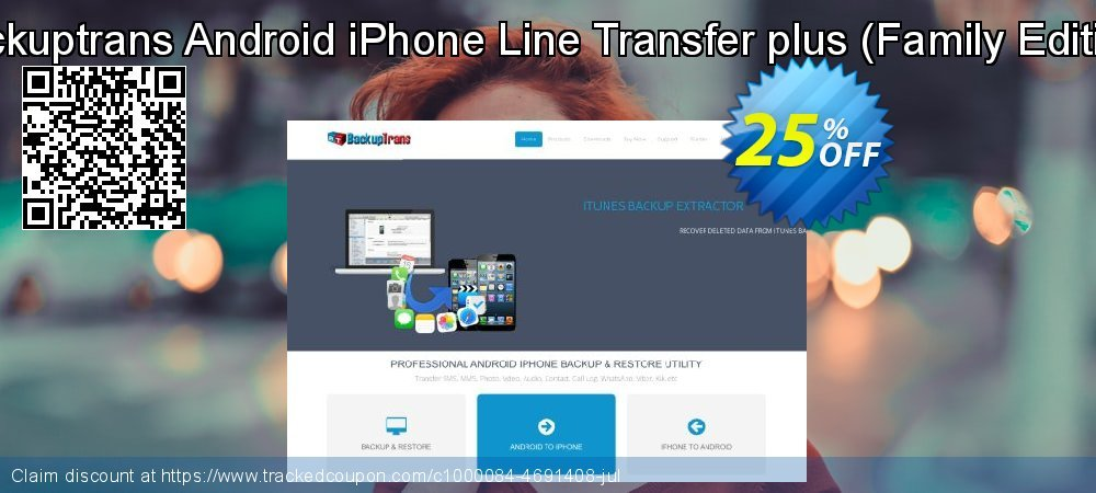 Backuptrans Android iPhone Line Transfer plus - Family Edition  coupon on April Fool's Day offer