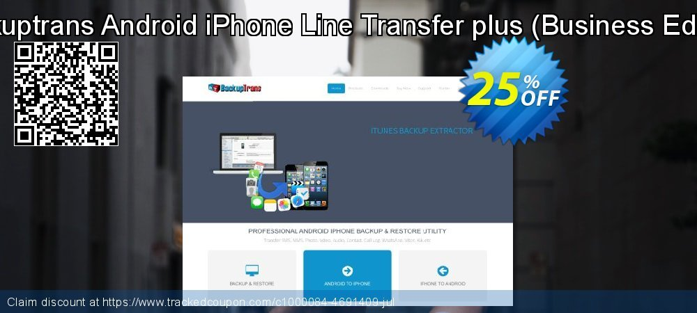 Backuptrans Android iPhone Line Transfer plus - Business Edition  coupon on Easter Sunday discount