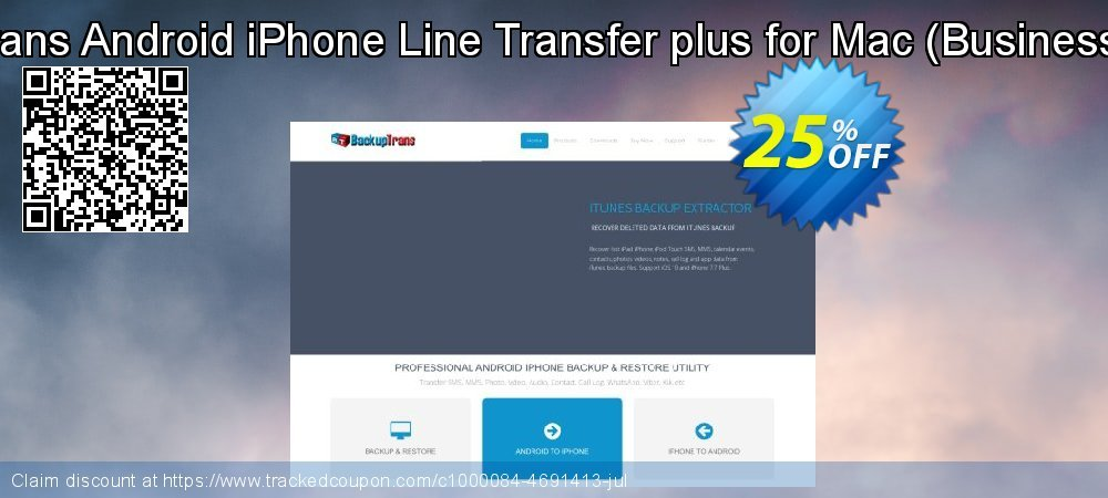 Backuptrans Android iPhone Line Transfer plus for Mac - Business Edition  coupon on Easter Sunday discounts