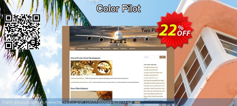 Color Pilot coupon on Easter Sunday offering sales