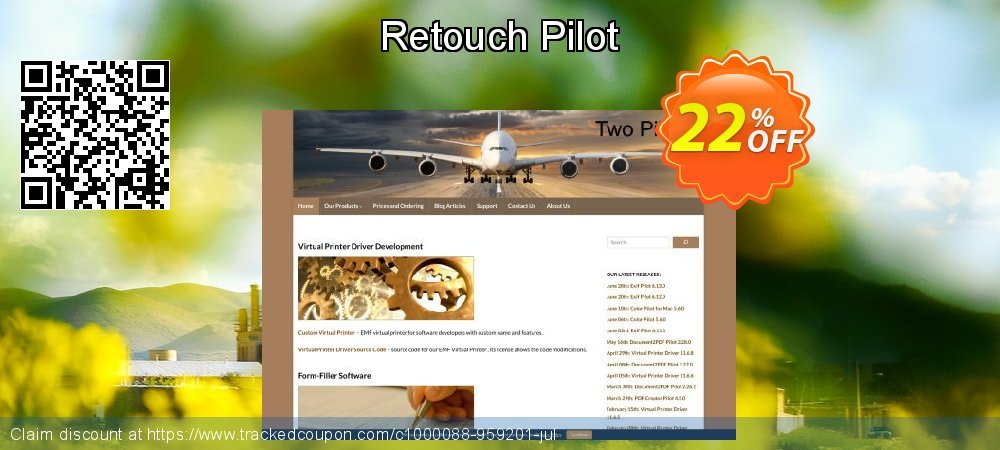 Retouch Pilot coupon on Easter Sunday sales