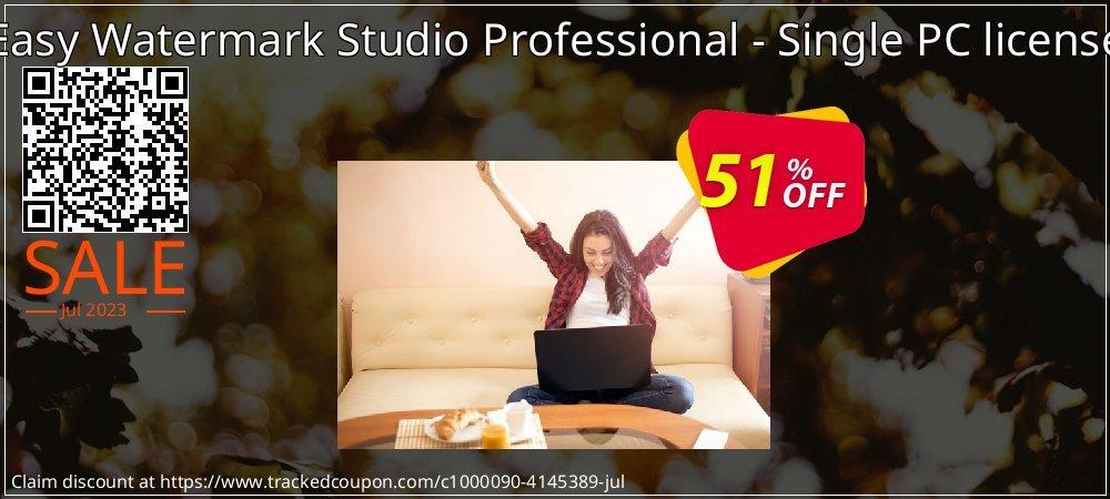 Get 50% OFF Easy Watermark Studio Professional - Single PC license offering sales