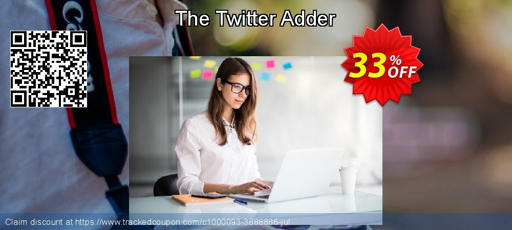 The Twitter Adder coupon on Emoji Day offering discount