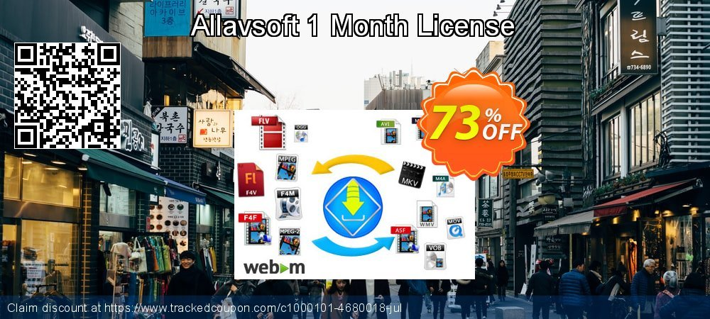 Allavsoft 1 Month License coupon on National French Fry Day promotions