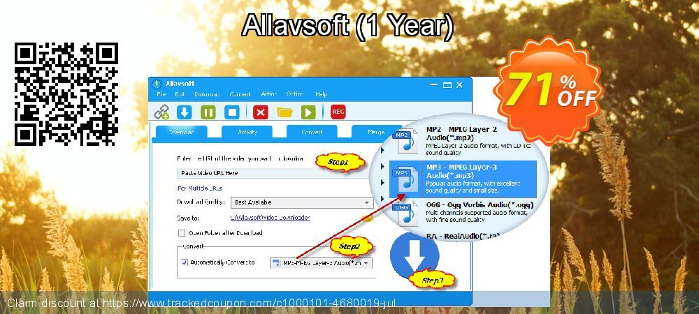 Get 10% OFF Allavsoft 1 Year License promo