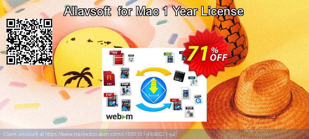 Allavsoft  for Mac 1 Year License coupon on  Lover's Day discounts