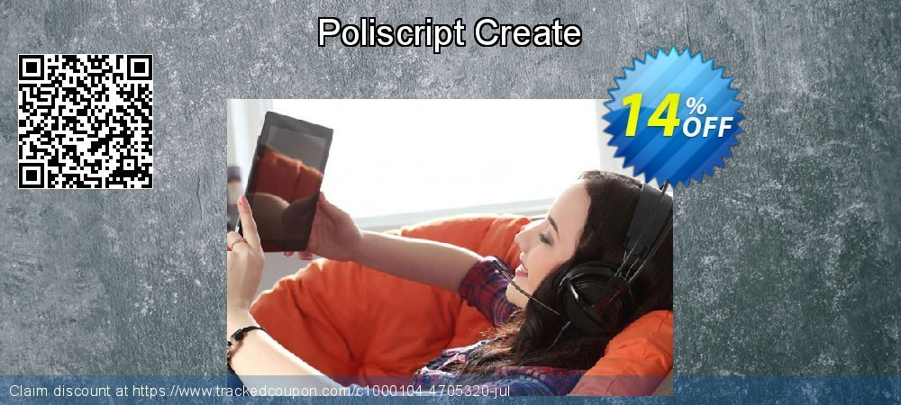 Poliscript Create coupon on Back to School shopping discounts
