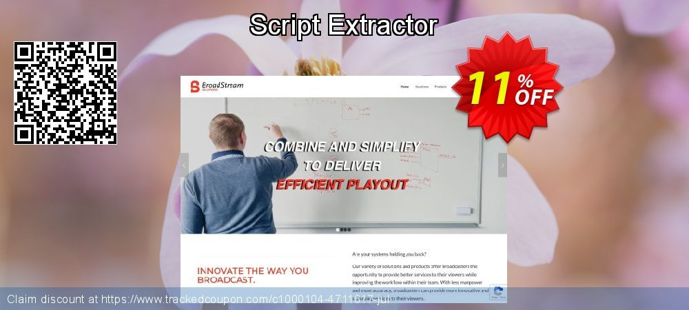 Script Extractor coupon on National French Fry Day offer
