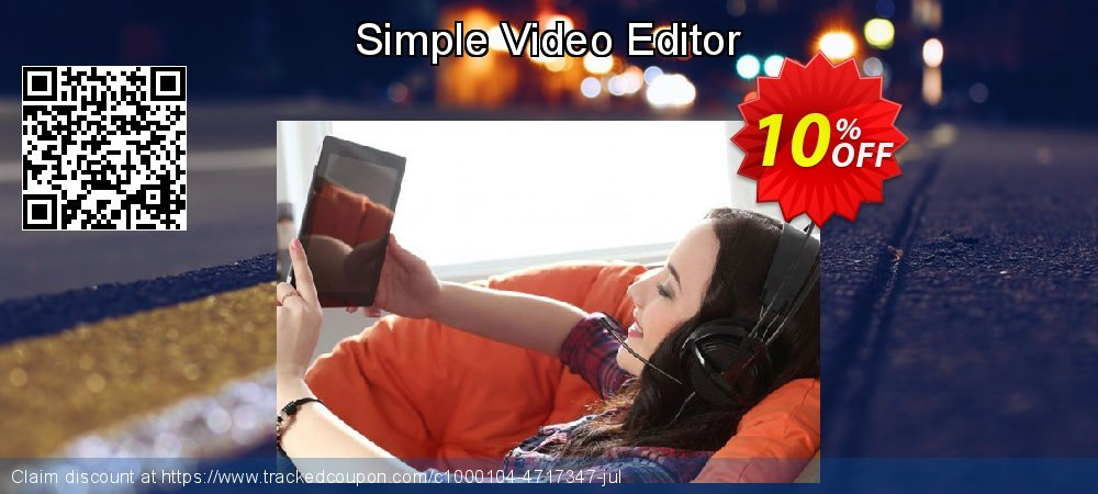 Simple Video Editor coupon on University Student offer deals