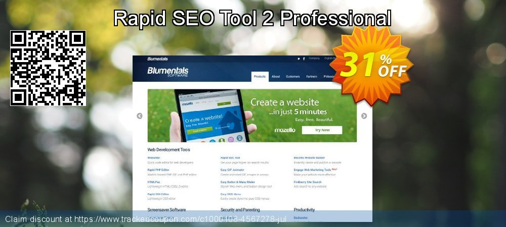 Get 31% OFF Rapid SEO Tool 2 Professional promo sales