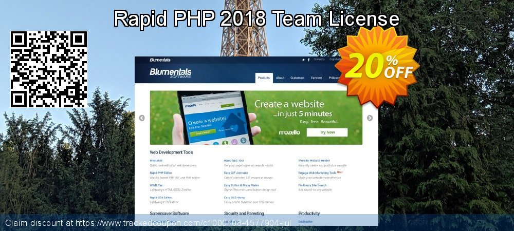 Get 20% OFF Rapid PHP 2018 Team License offering sales