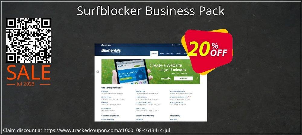 Get 20% OFF Surfblocker Business Pack offering sales