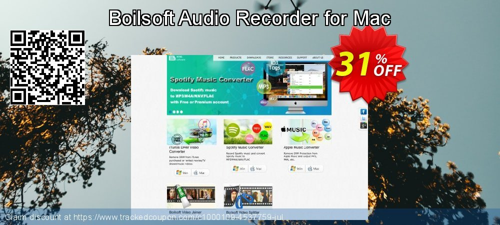 Get 30% OFF Boilsoft Audio Recorder for Mac promo sales