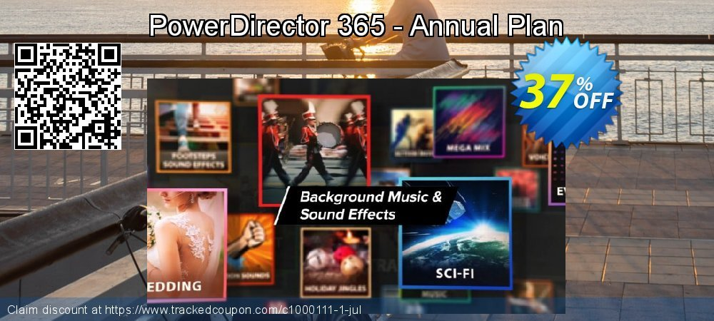 PowerDirector 365 - 12 months coupon on  Lover's Day offering sales