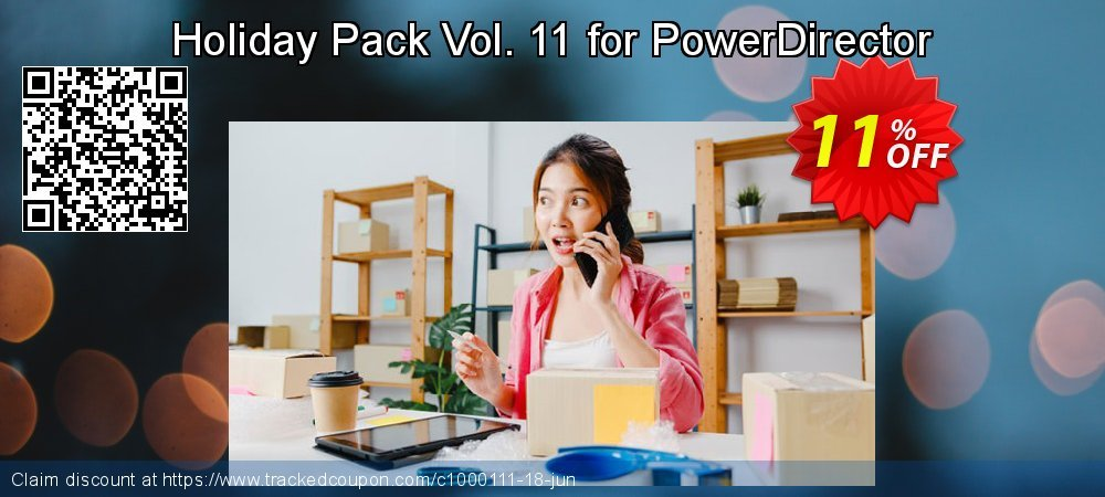 Holiday Pack Vol. 11 for PowerDirector coupon on Happy New Year discount