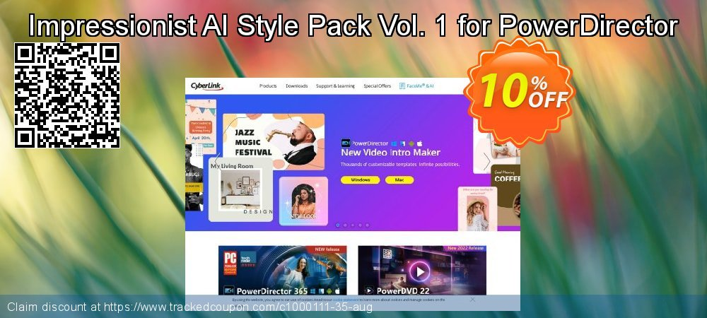 Impressionist AI Style Pack Vol. 1 for PowerDirector coupon on Lunar New Year offer