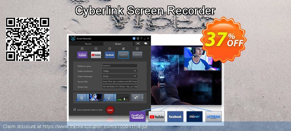 Cyberlink Screen Recorder coupon on Natl. Doctors' Day sales