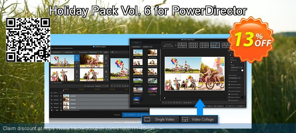 Holiday Pack Vol. 6 for PowerDirector coupon on Happy New Year offering discount
