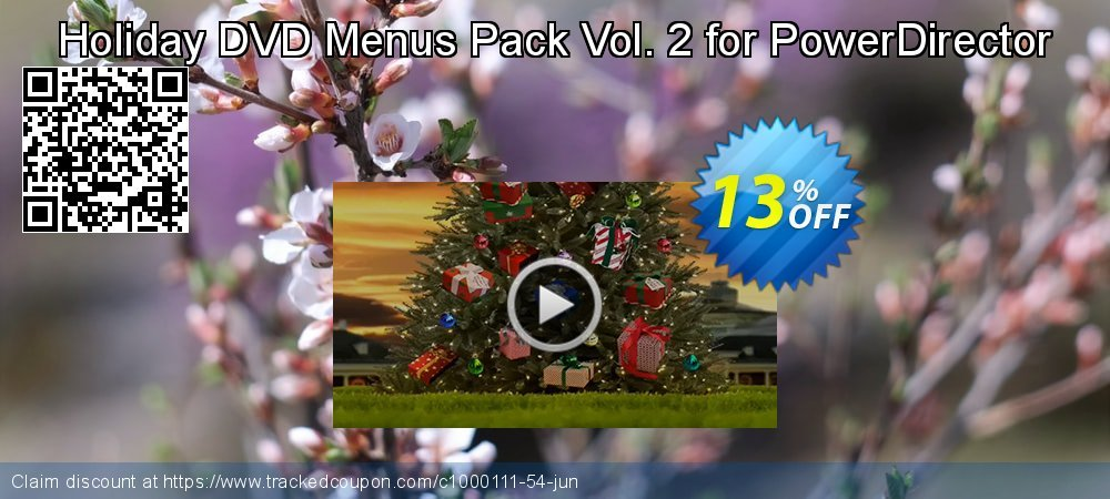 Holiday DVD Menus Pack Vol. 2 for PowerDirector coupon on Happy New Year discount