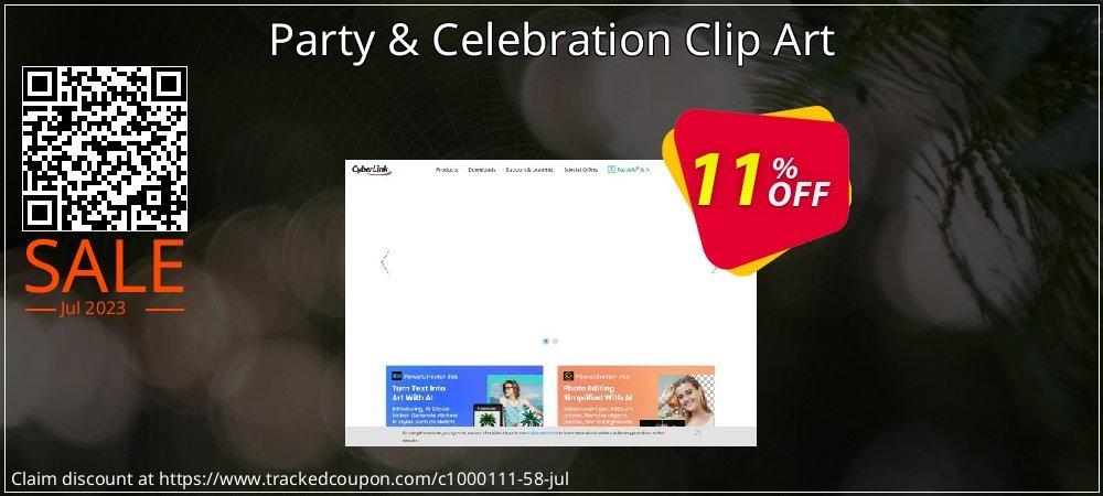 Get 10% OFF Party & Celebration Clip Art offering sales