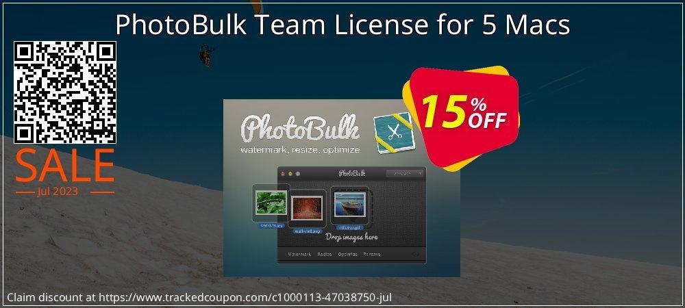 Get 15% OFF PhotoBulk Team License for 5 Macs offering sales