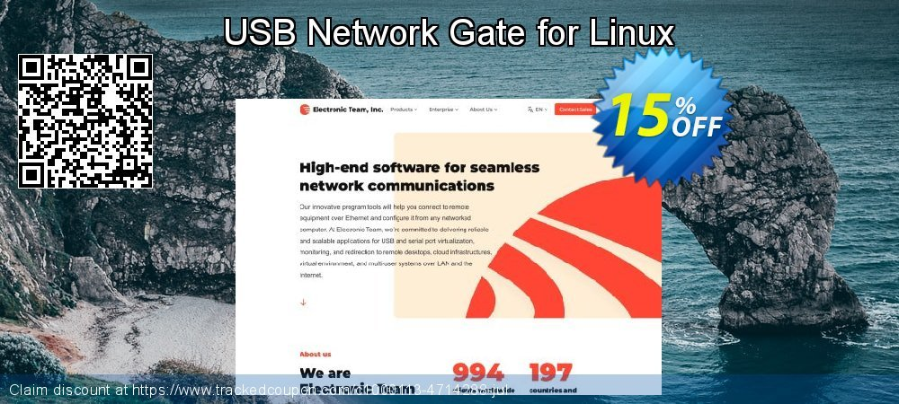 Get 10% OFF USB Network Gate for Linux 1 shared USB device offering sales