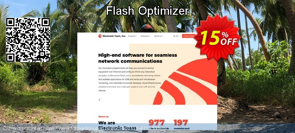 Flash Optimizer coupon on Summer offering sales