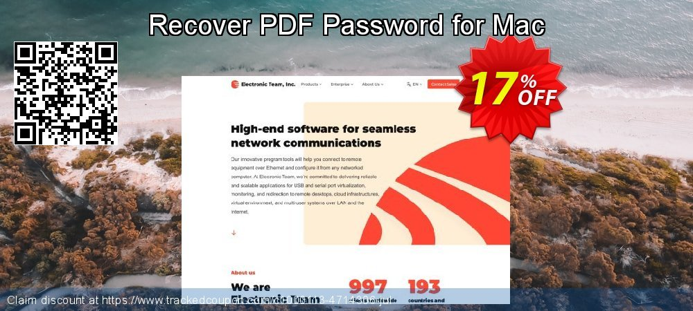 Recover PDF Password for Mac coupon on Back to School season deals