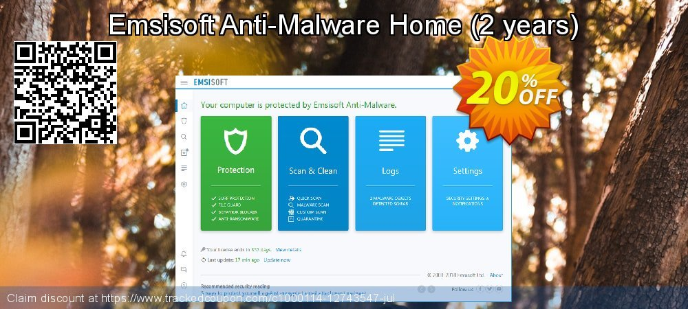 Get 10% OFF Emsisoft Anti-Malware Home discount