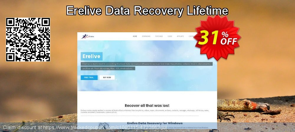 Get 30% OFF Erelive Data Recovery Lifetime offer