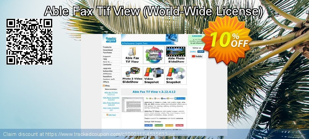 Able Fax Tif View - World-Wide License  coupon on April Fool's Day deals