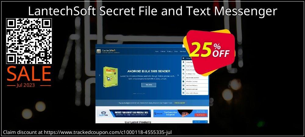 Get 10% OFF Secret File and Text Messenger offering sales