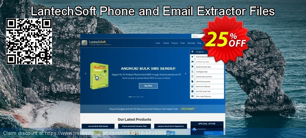 Get 10% OFF Phone and Email Extractor Files offering sales