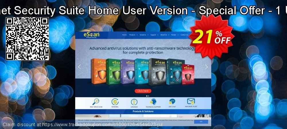 Get 20% OFF eScan Internet Security Suite Home User Version - Special Offer - 1 User 1 Years promotions