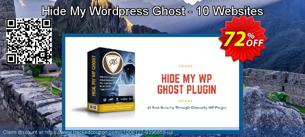 Get 72% OFF Hide My WP Ghost - 10 Websites promo sales