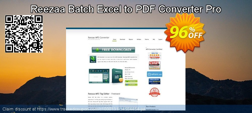 Get 94% OFF Reezaa Batch Excel to PDF Converter Pro offering sales
