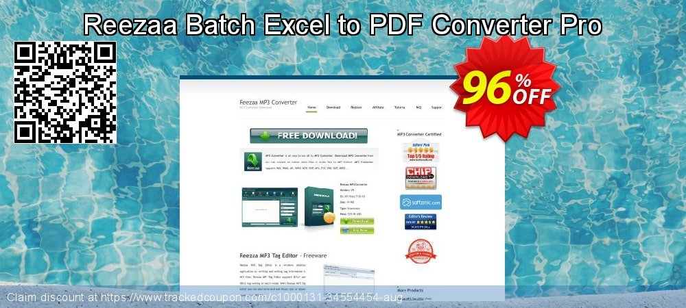 Reezaa Batch Excel to PDF Converter Pro coupon on Easter super sale