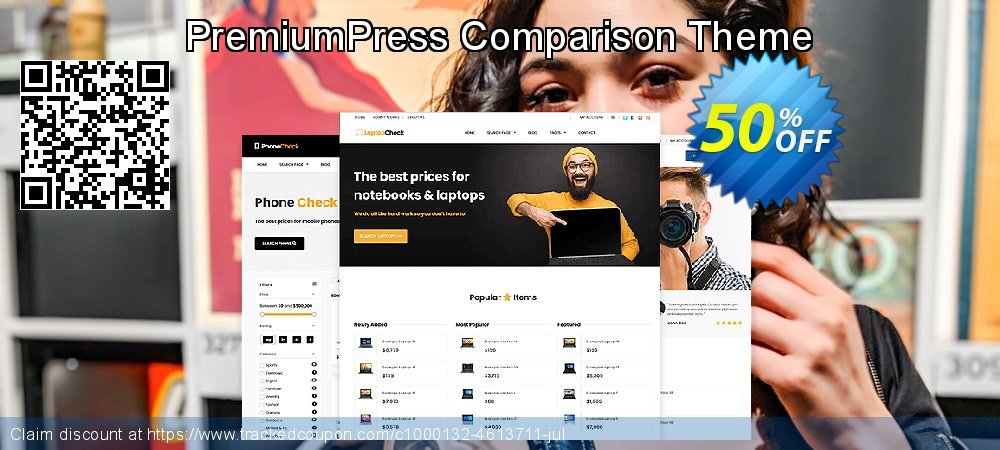 Get 75% OFF PremiumPress Responsive Comparison Theme offer