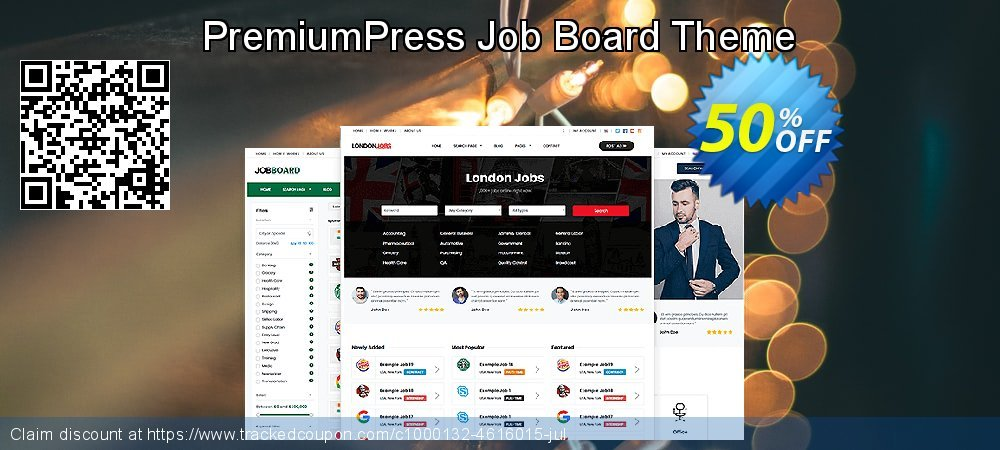 Get 75% OFF PremiumPress Responsive Job Board Theme offering sales