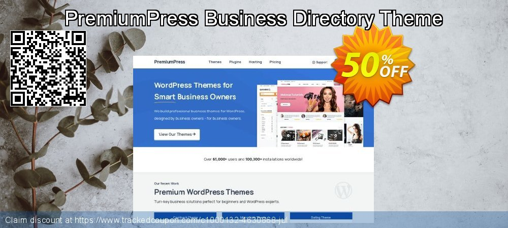 PremiumPress Business Directory Theme coupon on New Year offering sales